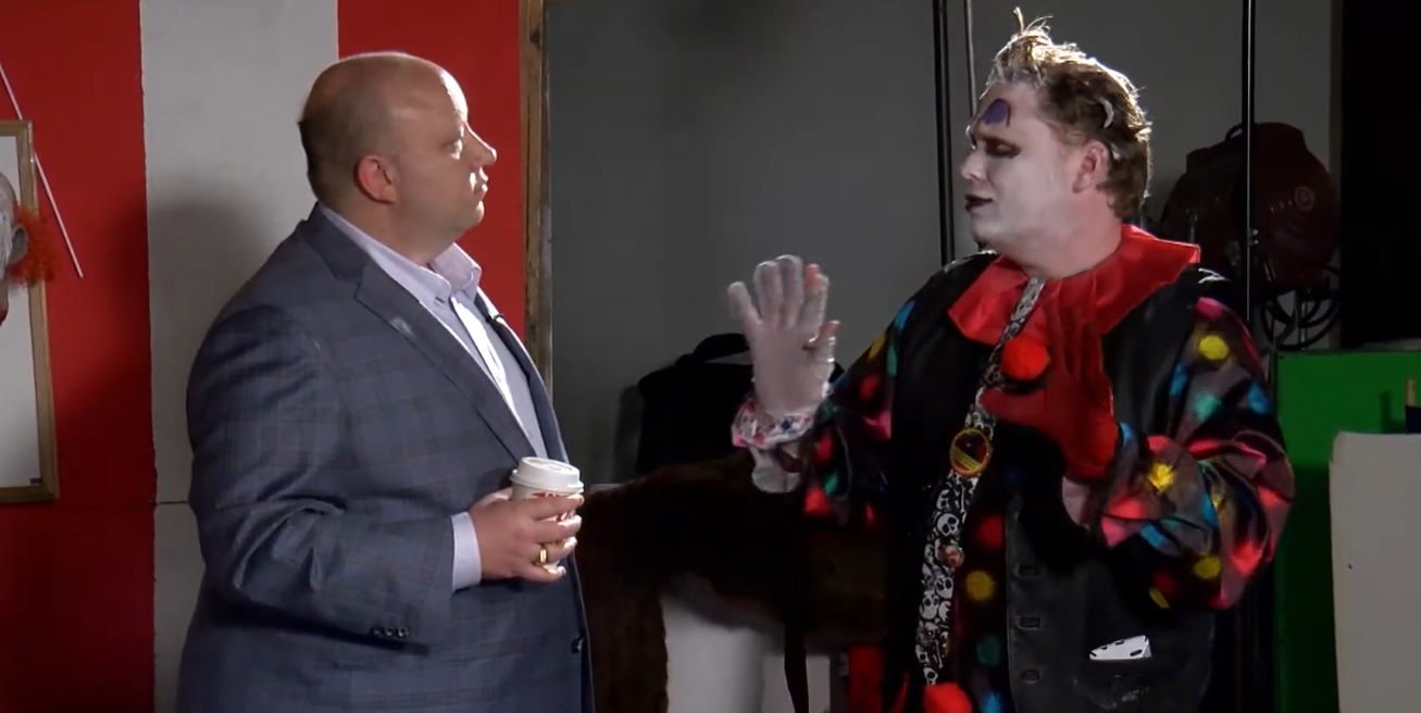 ARC Law Group attorney, Mark A. Pearson, visits the set of Circus of Chaos