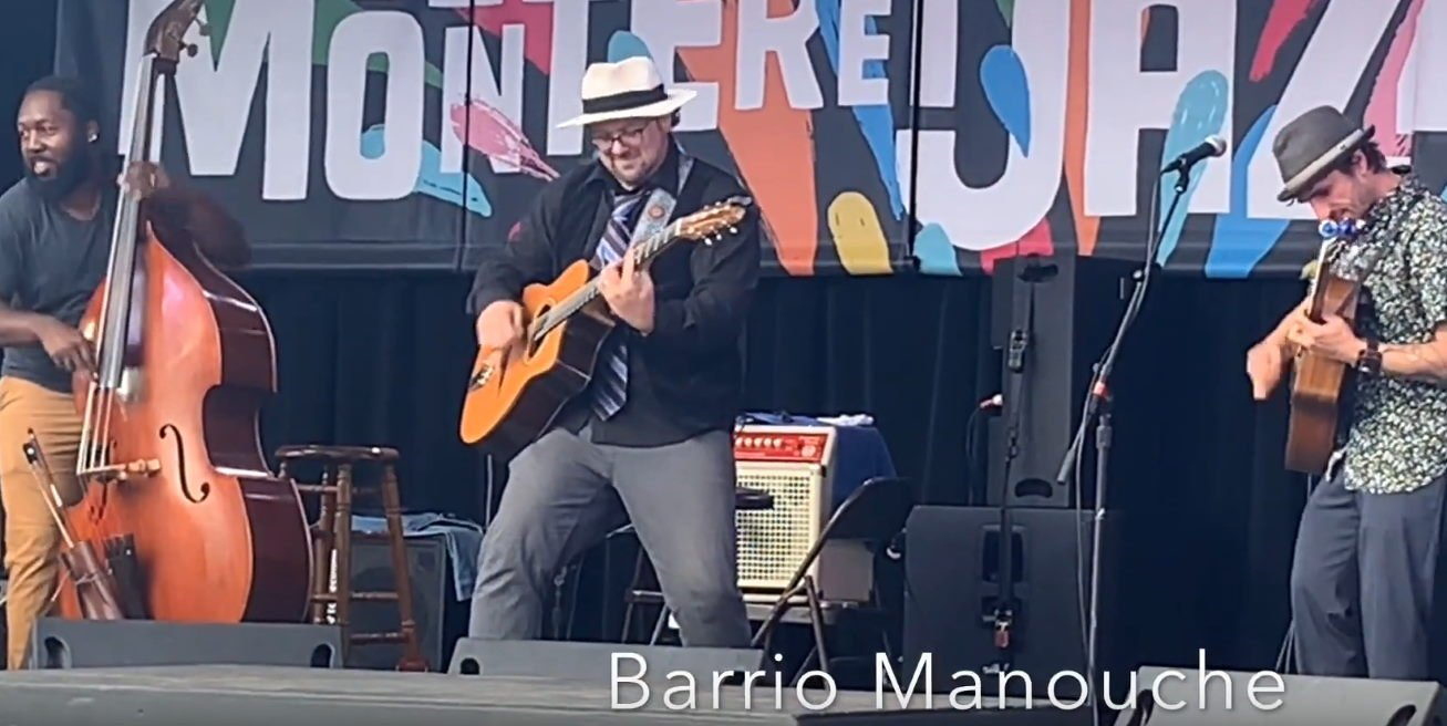 Catching a hot show from Barrio Manouche at the Monterey Jazz Festival