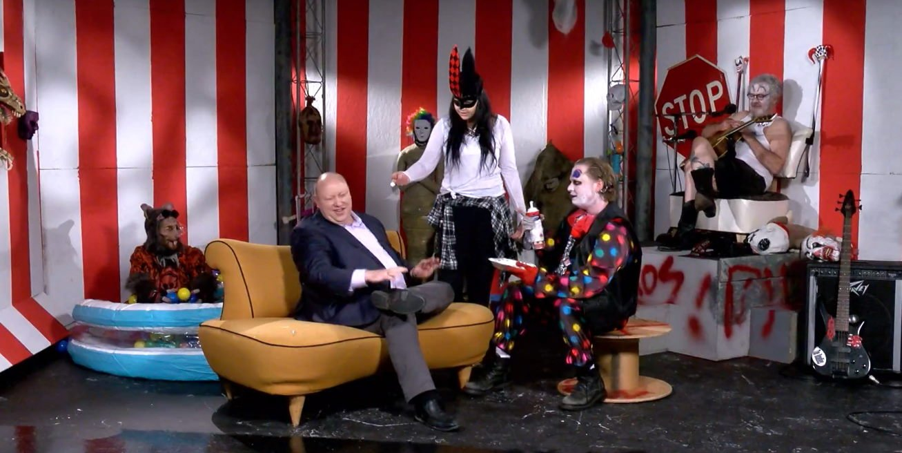 Interviewed on Circus of Chaos with Cousin Dave on KOFY TV 20. Used with permission Copyright 2017 Circus of Chaos